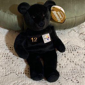 NWT NFL Steelers Terry Bradshaw Beanie Bear